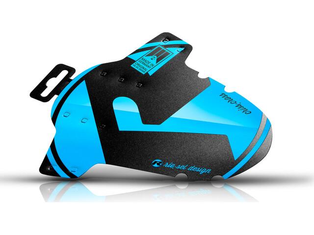 "Riesel Design criss:cross Guardabarros delantero 28"", negro/azul"